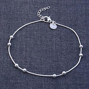 levne Náramky-Dámské Řetězové & Ploché Náramky Slitina Náramek šperky Stříbrná Pro Vánoční dárky Svatební