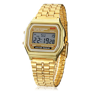 ieftine ceasuri digitale pentru femei-Bărbați Ceas de Mână Ceas digital Digital Auriu Alarmă Calendar Cronograf Piloane de Menținut Carnea Charm - Auriu Un an Durată de Viaţă Baterie / LCD / SODA AG4
