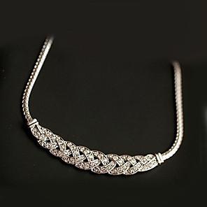 ieftine Colier la Modă-Pentru femei Cristal Coliere cu Pandativ Modă Aliaj Auriu Argintiu Coliere Bijuterii Pentru Petrecere