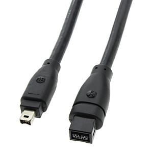 ieftine USB-uri-9 pini / 4 pini FireWire bilingvă 800 - FireWire 400 Black Cable (1.8M)