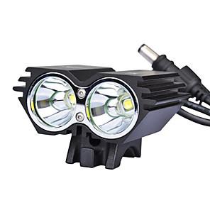 ieftine Frontale-LED Lumini de Bicicletă Iluminat Bicicletă Față LED Ciclism montan Bicicletă Ciclism Rezistent la apă Moduri multiple Foarte luminos Siguranță 18650 Ciclism / Unghi Larg / IPX-4