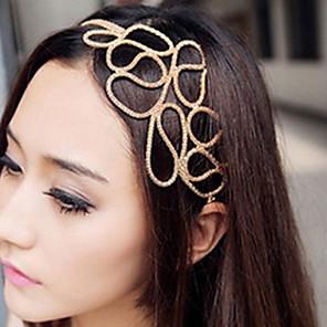 ieftine Bijuterii de Păr-Pentru femei Cordeluțe Pentru Zilnic Flori Material Textil Aliaj Auriu / Bijuterii de Păr