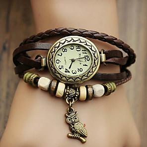 Χαμηλού Κόστους Γυναικεία ρολόγια-Γυναικεία Βραχιόλι Ρολόι ρολό περιτυλίγματος Χαλαζίας Wrap Συνθετικό δέρμα με επένδυση Μαύρο / Μπλε / Κόκκινο Καθημερινό Ρολόι Αναλογικό κυρίες Μποέμ Μοντέρνα - Κόκκινο Πράσινο Μπλε / Ενας χρόνος