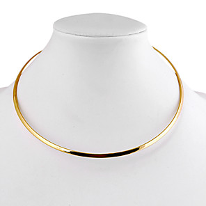 levne Módní náhrdelníky-Dámské Obojkové náhrdelníky dámy Jednoduchý minimalistický styl Slitina Stříbrná Zlatá Náhrdelníky Šperky 1ks Pro Denní Ležérní
