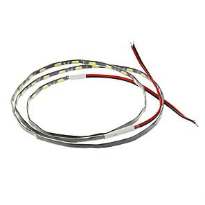 ieftine Becuri LED Bi-pin-1m Fâșii De Becuri LEd Flexibile 54 LED-uri 5630 SMD / 5730 SMD 1 buc Alb Decorativ / Potrivite Pentru Autovehicule 12 V