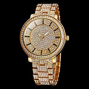 ieftine Colier la Modă-Pentru femei Ceasuri Pave ceas de aur Quartz Oțel inoxidabil Argint / Auriu imitație de diamant Analog Sclipici Modă Ceas Elegant - Auriu Argintiu Doi ani Durată de Viaţă Baterie / Maxell626