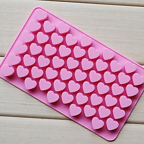 ieftine Ustensile & Gadget-uri de Copt-55 de găuri non-stick tort de ciocolată silicon dragoste pe formă de mucegai mucegai de copt coacere gel jeu mucegai inima