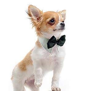 ieftine Pet Costume de Crăciun-Câine Cravată / Papion Îmbrăcăminte Câini Alb Portocaliu Verde Bumbac Costume Pentru Primăvara & toamnă Vară Iarnă Nuntă
