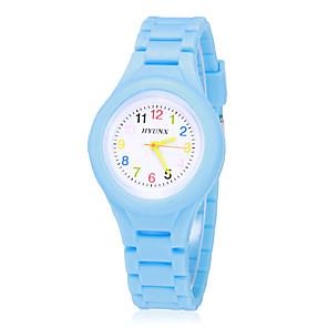 ieftine Ceasuri Damă-Băieți Fete Ceas de Mână Quartz Casual Silicon Albastru / Roșu / Verde Analog - Galben Rosu Albastru