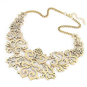 levne Módní náhrdelníky-Dámské Límeček Prohlášení Náhrdelníky Kytky dámy Evropský Módní Slitina Stříbrná Zlatá Náhrdelníky Šperky Pro Párty Denní