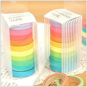 ieftine Instrumente Scris & Desen-colorate curcubeu design tapes (set de 10) pentru școală / birou