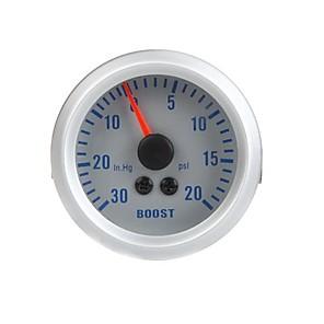 billige Blink og fluer-turbo boost vakuummåler til auto bil 2 52mm 0 ~ 30in.hg 0 ~ 20psi orange lys uden instrumentstativ