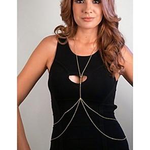 ieftine Bijuterii de Corp-Lanț de Talie Corp lanț / burtă lanț Design Unic European stil minimalist Pentru femei Bijuterii de corp Pentru Zilnic Casual Aliaj Auriu Argintiu