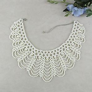 ieftine Colier la Modă-Pentru femei Perle Guler Semințe de perle femei Vintage Modă Elegant Perle Imitație de Perle Alb Coliere Bijuterii 1 buc Pentru Nuntă Petrecere Ocazie specială Zi de Naștere Cadou Zilnic