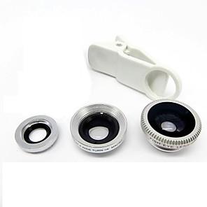 ieftine Stick Tripod Selfie-universal obiectiv obiectiv cu unghi larg + macro + obiectiv fisheye - argint pentru iphone 8 7 samsung galaxy s8 s7