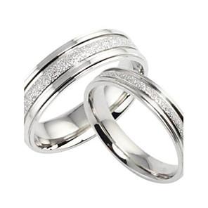ieftine Inele-Pentru femei Inele Cuplu Band Ring Perle Argintiu Oțel titan Circle Shape femei de Mireasă Nuntă Petrecere Bijuterii Iubire