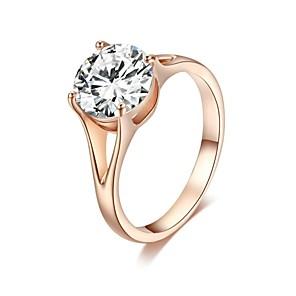 ieftine Îngrijire Unghii-Pentru femei Inel de declarație Cristal Placat Auriu Clasic Nuntă Petrecere Bijuterii Prinţesă / Casual