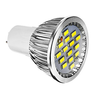 ieftine Spoturi LED-1 buc 6 W Spoturi LED 400 lm E14 GU10 E26 / E27 15 LED-uri de margele SMD 5730 Intensitate Luminoasă Reglabilă Alb Cald Alb Rece Alb Natural 220-240 V 110-130 V