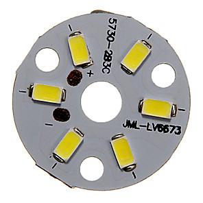 ieftine LED-uri-dm 1pc 3w 300-350lm 6 x 5730 smd led-uri patch led sursă de lumină bord rece lumină albă 6000-6500 k substrat de aluminiu (dc9-12v, 300ma)