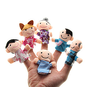 cheap Puppets-Family Finger Puppets Puppets Cute Lovely Novelty Plush Girls' Toy Gift 6 pcs / Parent-Child Interaction / Family Interaction