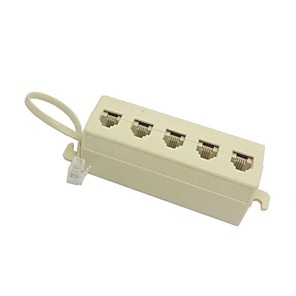 ieftine Cabluri Ethernet-5 fel telefon 6P4C priză RJ11 RJ12 linie jack modular adaptor separator bej 1 din 5