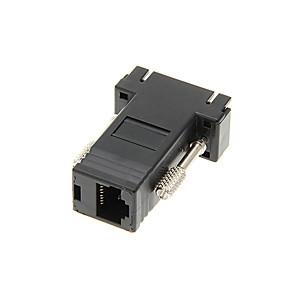 Недорогие VGA-VGA MIRJ 45 Женский и адаптер Порт RJ45