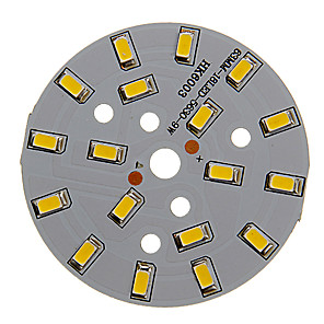 ieftine Becuri LED Bi-pin-dm 1pc 9w 500-550lm 18 x 5730 smd led-uri patch led lumina sursă de lumină cald lumină albă 3000-3500 k substrat de aluminiu (dc21-24v, 300ma)