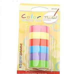 ieftine Papetărie-adezive banda de culoare decor curcubeu autocolant 6 role set (culoare asortată)