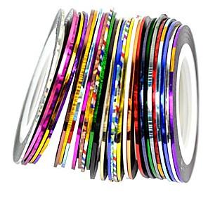 cheap Nail Care-30pcs mixed colors rolls striping tape line nail art decoration sticker