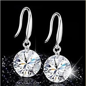 ieftine Seturi de Bijuterii-Pentru femei Cristal Cercei Picătură Domnișoară de Onoare Plastic Cristal cercei Bijuterii Negru / Alb / Mov Pentru Nuntă Petrecere Zilnic