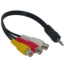 ieftine Audio & Video-3.5mm Jack Plug pentru 3 RCA AV Adaptor Cablu pentru Audio Video 20cm