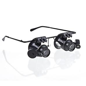 ieftine Microscop & Lupă-20X Iluminat LED Lămpi cu lămpi Magnifying Ajutor de lectură Reparație Ceas Plastic pentru 1 Microscop