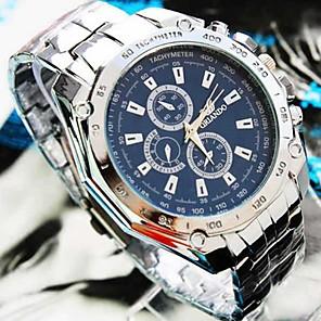 preiswerte Uhren Herren-Herrn Uhr Armbanduhr Aviation Watch Quartz Legierung Silber Armbanduhren für den Alltag Analog Charme Weiß Schwarz Blau / Ein Jahr / Jinli 377