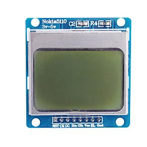 """ieftine Afișaje-1.6 """"nokia 5110 LCD modul albastru cu iluminare din spate pentru (pentru Arduino)"""
