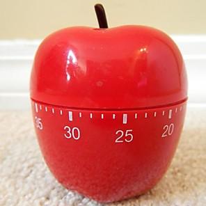 """ieftine Măsurători & Cântare de Bucătărie-Red Apple în formă mecanic de bucatarie Timer, din material plastic de 2,4 """"X2.4"""" X4.12 """""""
