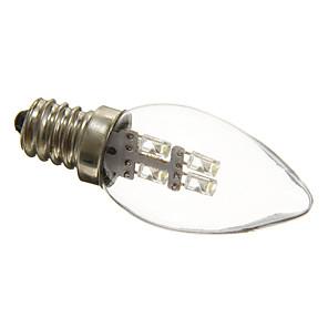 ieftine Becuri LED Lumânare-1 buc 0.5 W Becuri LED Lumânare 15-20 lm E12 C35 4 LED-uri de margele Dip LED Decorativ Alb Natural 100-240 V / RoHs