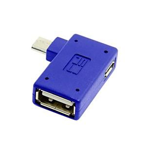 お買い得  USB ケーブル-銀河注3 S3 / S4 / i9500用のマイクロパワーと直角90度マイクロusb OTGホストフラッシュディスクアダプタ