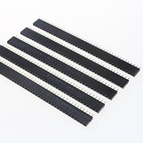 ieftine Accesorii-GDW az13 40-pini anteturile pas 2.54mm pini - negru (5 buc)