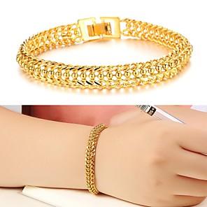 ieftine Brățări-Pentru femei Brățări Bantă Design Unic Modă 18K Placat cu Aur Bijuterii brățară Auriu Pentru Nuntă Petrecere Zilnic Casual / Placat Auriu