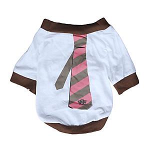 ieftine Seturi de Bijuterii-Câine Tricou Îmbrăcăminte Câini Respirabil Alb Costume Bumbac Dungi Casul / Zilnic XS S M L