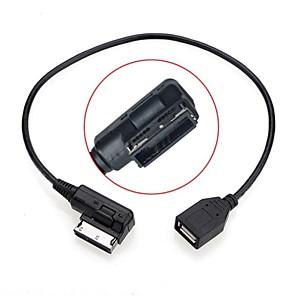 ieftine USB-uri-0,2M de sex masculin la feminin mass-media în ami MDI USB cablu adaptor unitate flash aux pentru vw audi automobil 2014 a4 a6 Q5 Q7