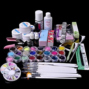 ieftine Îngrijire Unghii-61pcs glitter uv gel demachiant de unghii primer set trusă de artă