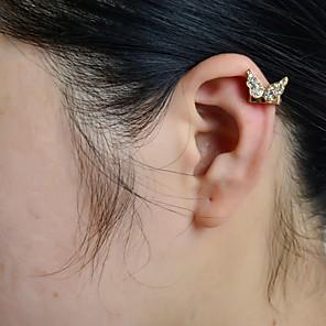 ieftine Cercei-Pentru femei Cătușe pentru urechi Fluture Animal Lux Ștras Diamante Artificiale cercei Bijuterii Pentru Nuntă Petrecere Zilnic Casual Sport