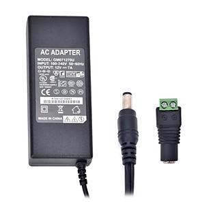 זול ממיר מתח-xinyuanyang® 84w 12v 7a מתאם אספקת 3round פיני מתח AC עבור רצועת אור הובילה (100-240V)