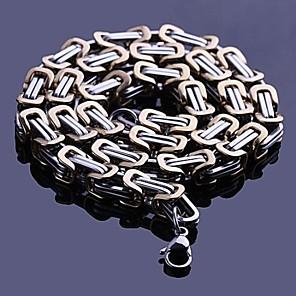 ieftine Coliere-Bărbați Lănțișoare Două-Tonuri Casual stil minimalist Modă Teak Aliaj Auriu Negru Coliere Bijuterii Pentru Cadou