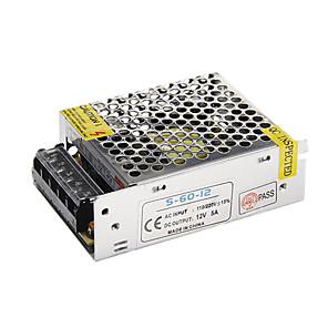 ราคาถูก ไดรเวอร์ LED-zdm 12v 5a 60w แรงดันไฟฟ้าแรงดันไฟฟ้าคงที่ ac / dc นำเปลี่ยนเครื่องแปลงไฟ (110-220v ถึง 12v)