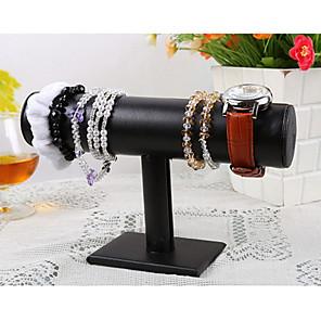 ieftine Împachetare Bijuterii & Ecrane-Floare Prezentări de Bijuterii - Piele , Lemn Modă Negru 5 cm / Pentru femei