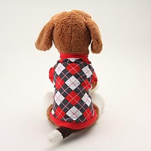 ieftine Imbracaminte & Accesorii Căței-Câine Tricou Tartan / Carouri Clasic Casul / Zilnic Îmbrăcăminte Câini Respirabil Negru Albastru Costume Bumbac XS S M L