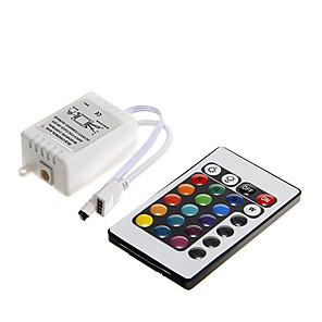 ieftine Manete RGB-dm 1pc dc 12v 24 telecomandă cu led-uri led cu buton de comandă pentru 3528 5050 smd rgb led flash strip