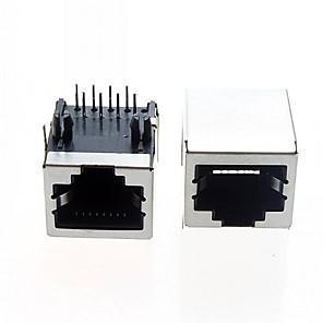 ieftine Conectoare & Terminale-RJ interfață cablu ethernet de interfață de rețea RJ45 generală (5pcs)